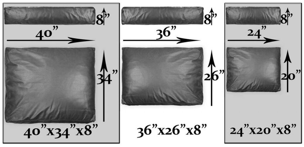 mattress DOG BEDS sizes