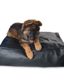 DEEP BED 08 INCH DOG BED BLACK LEATHER