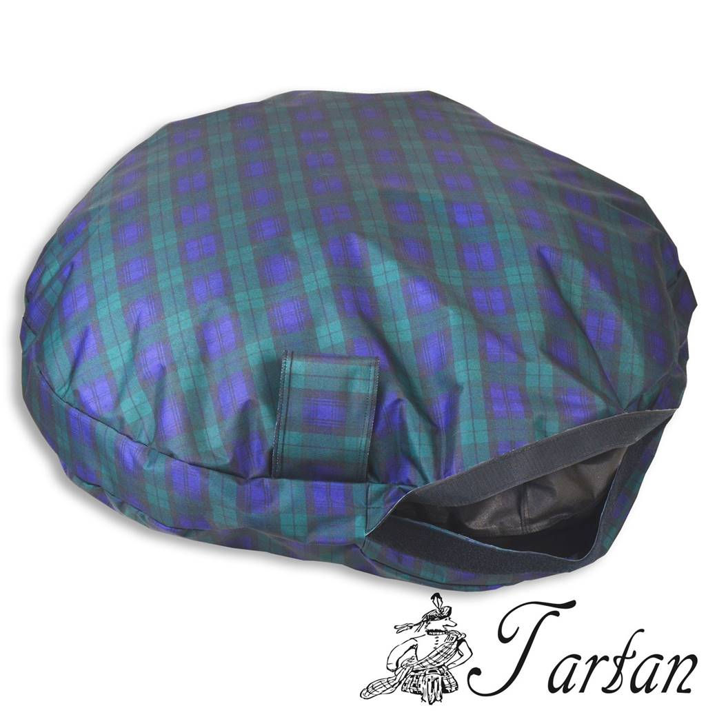 Tartan Comfortable Circular Bed With Memory Foam Only