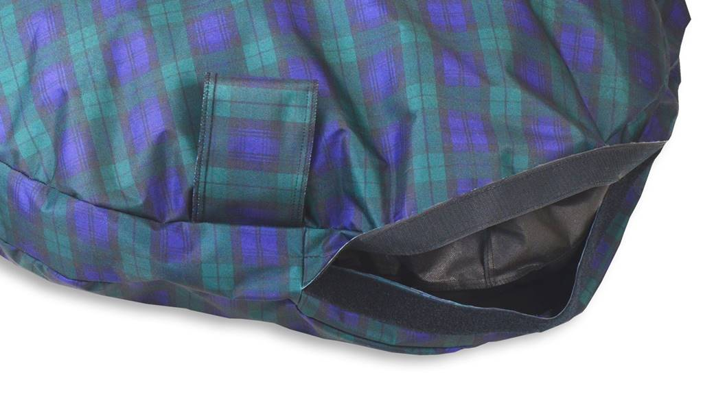 Comfortable_Circular_Bed_with_Memory_Foam_Tartan__Green_03