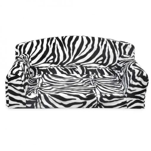 Animal sofa Optic Zebra cheap dog bed from uk