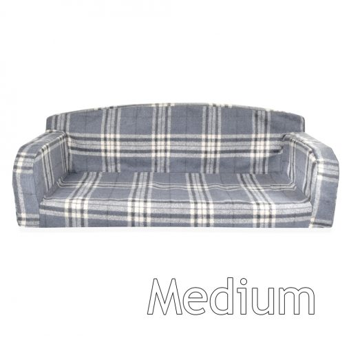 gleneagles sofa charcoal check large DOG BED