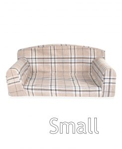 gleneagles sofa oatmeal check small DOG BEDS