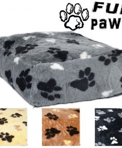 FUR PAWS DEEP BED PET GREY