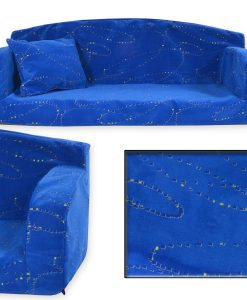Heavy Duty Soft Blue Sofa BED DOG BED