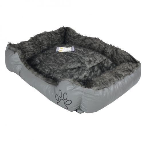 Pet Bed Dog Bed Very Comfortable Oblong Shape GREY