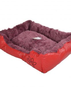 Pet Bed Dog Bed Very Comfortable Oblong Shape red