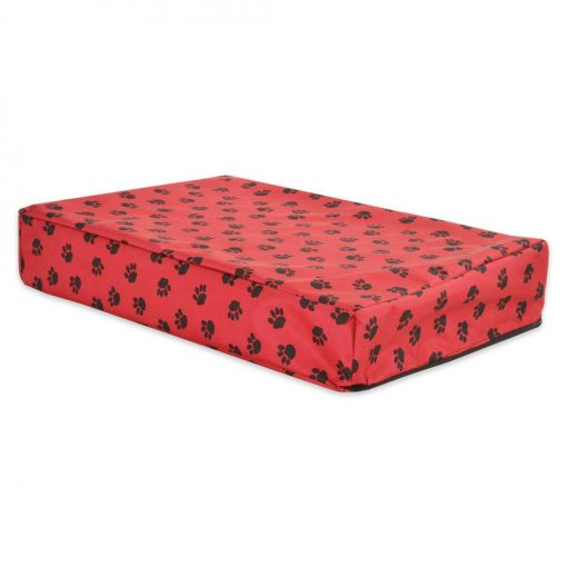 PAWS Orthopedic MemorY Foam Dog Cube Bed red