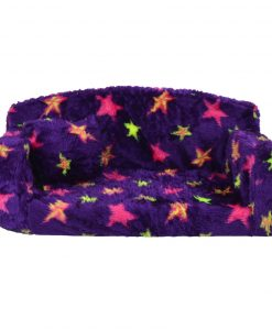 Stars Fur Purple Sofa DOG BED