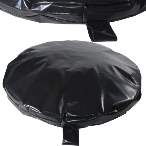 Heavy duty waterproof black circular bed