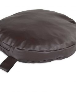 Leather brown circular pillow DOG BED