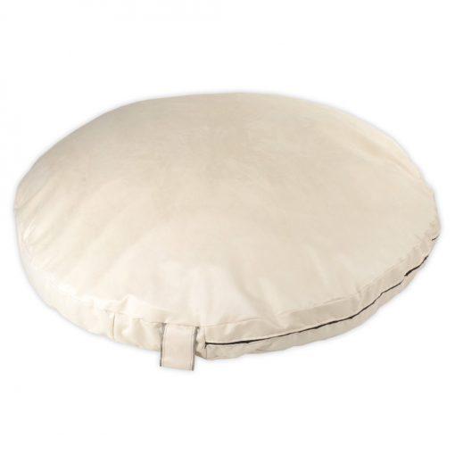 Seude cream Circlar pillow DOG BED