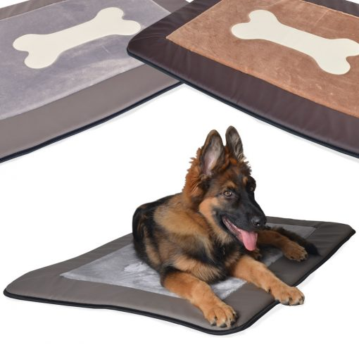 Plush bone mat DOG BED
