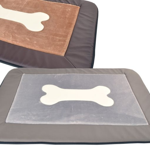 Plush bone mat grey DOG BED