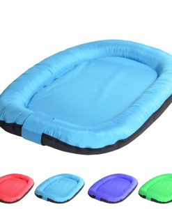 oval blue 1 DOG BED