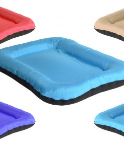 square blue 1 DOG BED