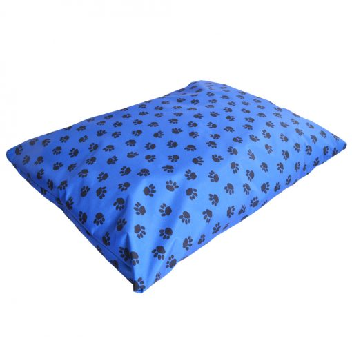 paws waterproof dog bed pillow blue