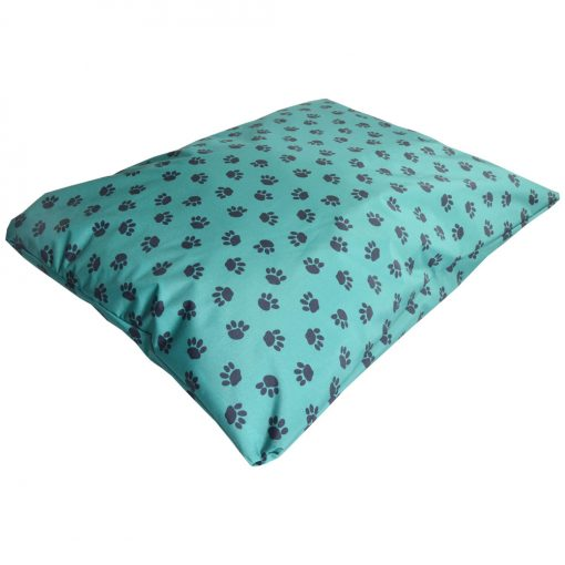 paws waterproof dog bed pillow green